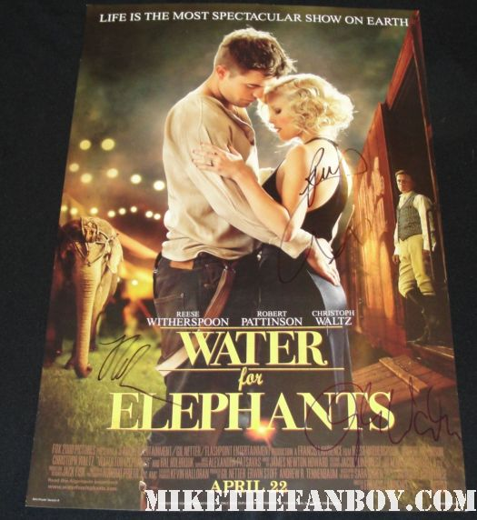 reese witherspoon signed autograph water for elephants promo mini poster rob pattinson hot sexy rare