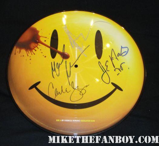 watchmen rare promo vinyl picture disc jeffrey dean morgan signed autograph malin akerman carla gugino