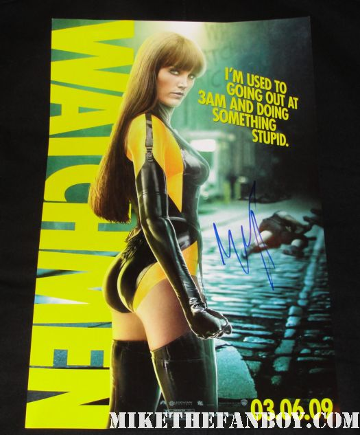 malin akerman signed autograph silk spectre rare watchmen promo mini poster promo individual hot sexyMalin Akerman signing autographs for fans at the wanderlust movie premiere in Westwood