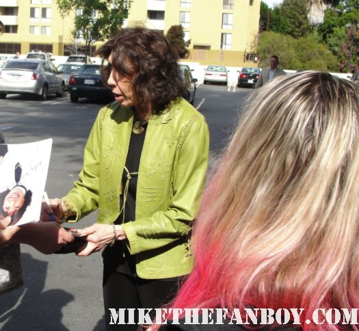 lily tomlin signing autographs for fans at a luncheon in her honor at the sportsmen's lodge in studio city ca all of me 9 to 5 murphy brown desperate housewives