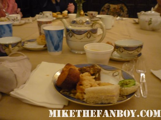 Food at the novel strumpet from mike the fanboy putting on a tam preparing to go to the jane austin ball in los angeles put on by theSociety for Manners and Merriment in the district of Los Angeles known as Pasadena