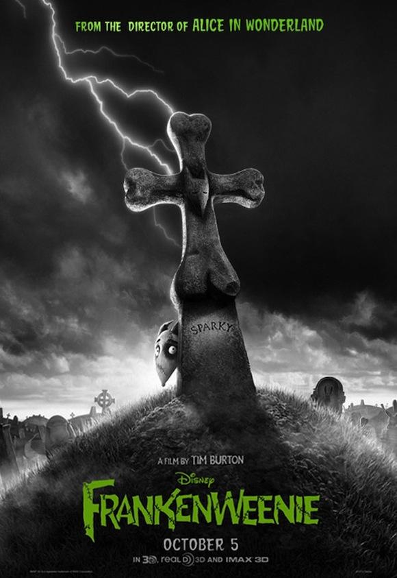 Tim Burton's Frankenweenie rare one sheet movie Poster promo sparky the dog promo walt disney movie poster