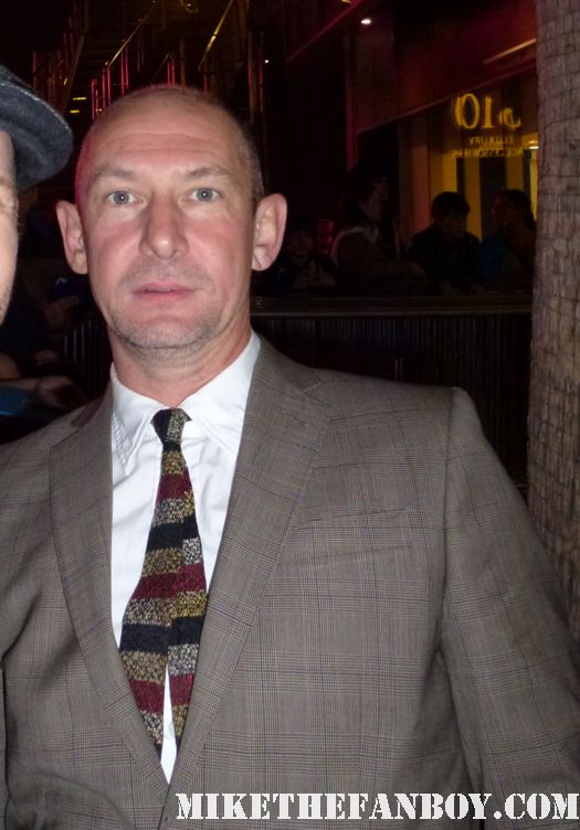 Ian Hart from harry potter stops to sign autographs for fans at the luck world premiere in hollywood rare promo