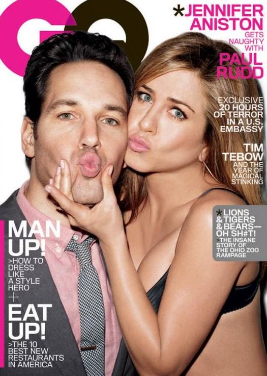 Jennifer+Aniston+and+Paul+Rudd+grace+the+cover+of+GQs+March+2012+issue jennifer aniston paul rudd march 2012 GQ magazine cover wanderlust