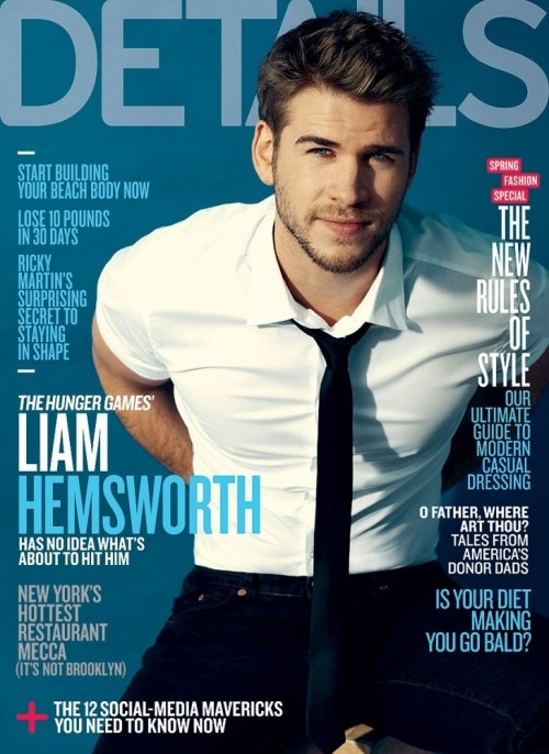 Liam-Hemsworth-Details-Cover hot sexy liam hemsworth rare march 2012 details magazine cover hunger games gale
