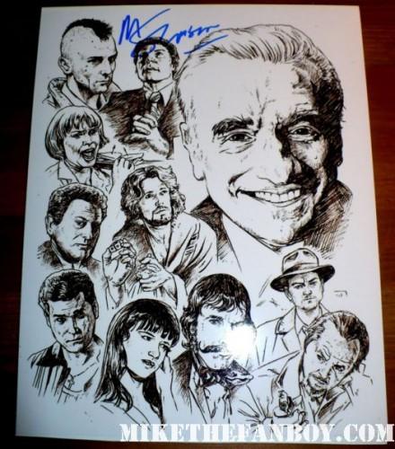 Director Martin Scorsese signed autograph rare promo photo lithograph rare promo hot shutter island casino goodfellas rare promo poster
