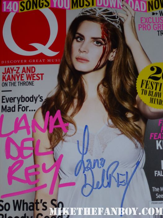 lana del rey signed autograph signature february 2012 issue of q magazine sexy cover blood prom queen hot