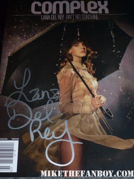 lana del rey signed autograph rare march 2012 complex magazine rare promo magazine cover rare hot sexy promo rain photo shoot