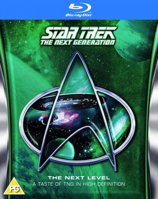 star trek the next generation blu ray release next level remastered promo cover art rare fan favorite edition