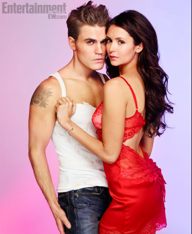 1194coverNINA_PAUL_300 entertainment weekly hot sexy vampire diaries naked shirtless paul wesley nina dobrev magazine cover rare  paul wesley naked paul wesley shirtless rare promo hot sexy muscle tank top