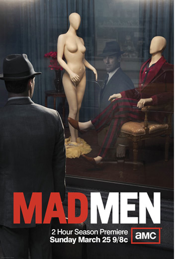 mad men season 5 rare promo poster don draper amc series jon hamm staring into a store window rare hot sexy march 25th mad men returns