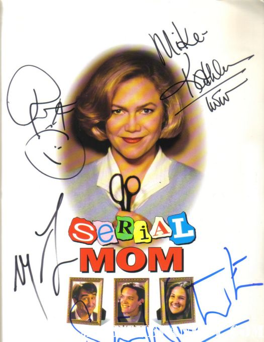 serial mom signed autograph promo movie poster press kit matthew lillard kathleen turner ricki lake