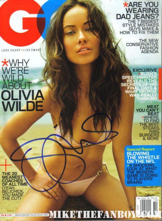 olivia wilde signed autograph gq magazine 2009 hot sexy bikini rare signature