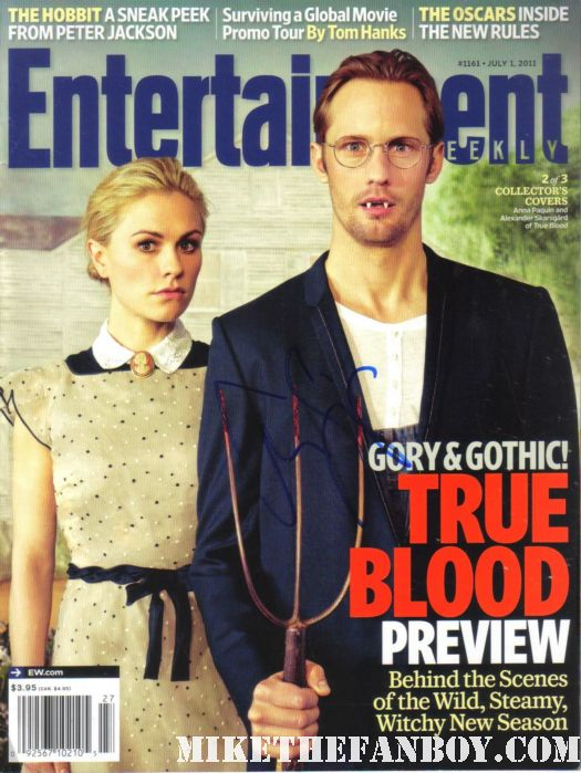alexander skarsgard signed autograph entertainment weekly magazine true blood limited edition three covers rare