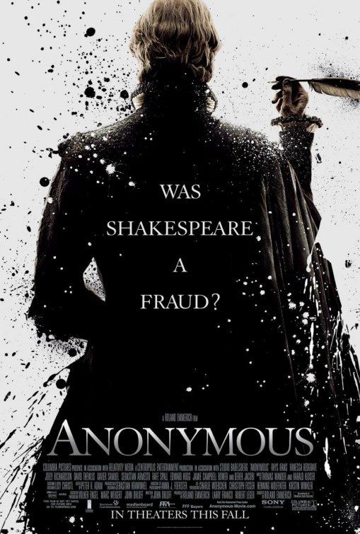 anonymous rare promo one sheet movie poster promo poster shakespeare rare fraud