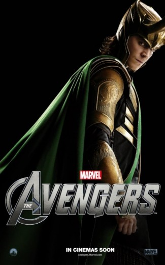 avengers_ver6 loki tom hiddleston rare promo individual promo avengers poster rare loki hot sexy thor star rare