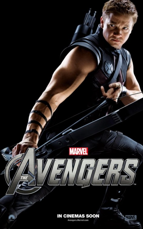 avengers_ver7 jeremy renner hot sexy muscle sleeveless shirtless promo mini poster hawkeye bicep tricep hot muscle rare promo the avengers poster rare