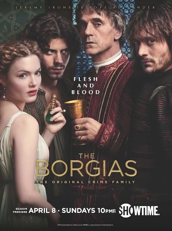 borgias season 2 rare promo poster showtime jeremy irons series rare hot sexy costume drama