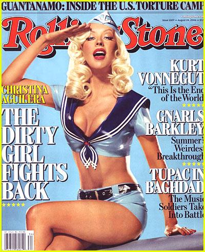 christina aguilera rare hot sexy dirrty rolling stone magazine cover soldier promo rare sex