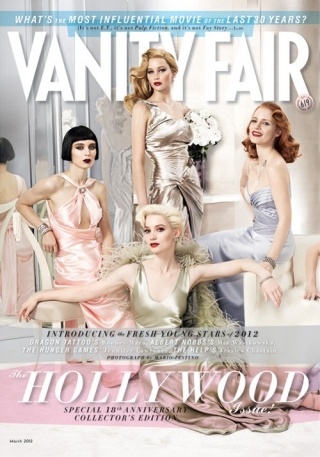 cn_image.size.cover_vanityfair_500 vanity fair 2012 hollywood issue with jennifer lawrence rooney mara jessica chastain Mia Wasikowska Lily Collins