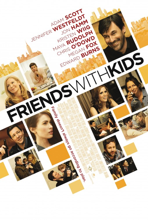 friends_with_kids rare promo one sheet movie poster jon hamm kristin wiig maya rudolph hot sexy promo one sheet movie poster