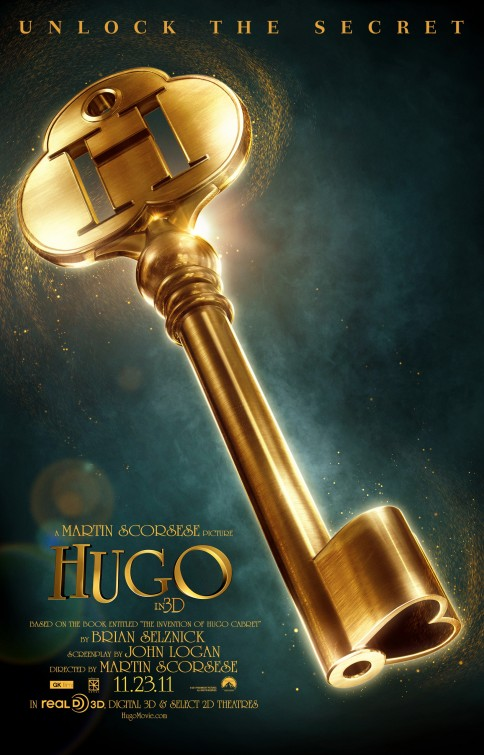 hugo rare movie poster promo hugo teaser movie poster martin scorsese poster promo academy award winner