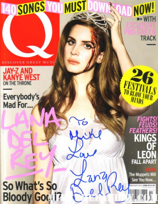 lana del rey signed q magazine born to die hot and sexy lead singer rare promo february 2012 issue of q magazine