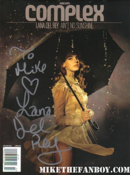 lana del rey signed complex magazine hot sexy rare promo singing in the rain rare promo