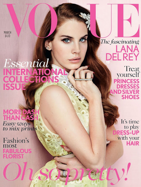 lana del rey vogue cover lana del rey on the march 2012 issue of british vogue magazine hot and sexy magazine cover rare promo video games rare