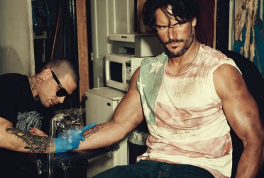 joe-manganiello-on-the-march-2012-cover-of-out-magazine hot sexy true blood star alcide rare shirtless hot sexy muscle workout photo shoot