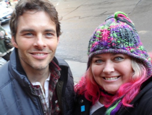 mike the fanboy's pretty in pinky with Enchanted star James Marsden at the 2012 Sundance Film Festival