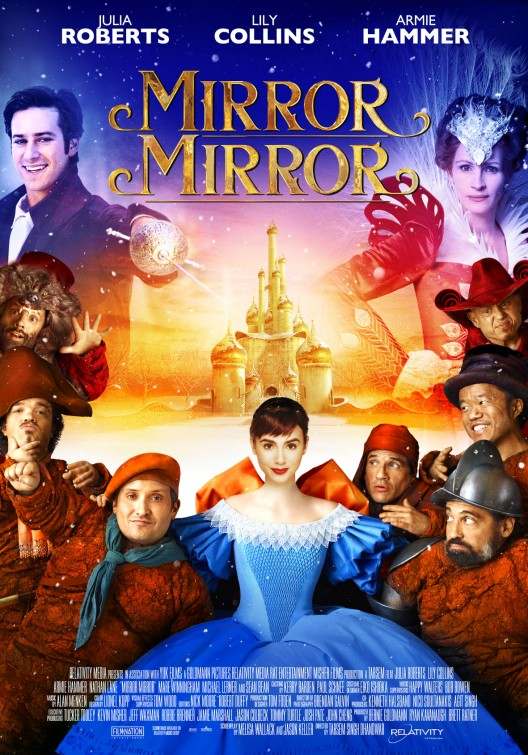 mirror_mirror_ver6 rare promo one sheet movie poster lily collins julia roberts hot sexy promo poster hot snow white armie hammer