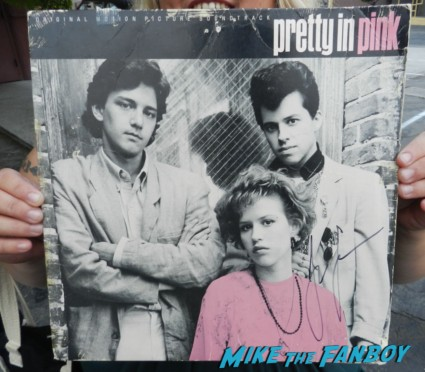 pretty in pink original vinyl lp rare promo signed by jon cryer rare molly ringwald signing autographs for fans 002