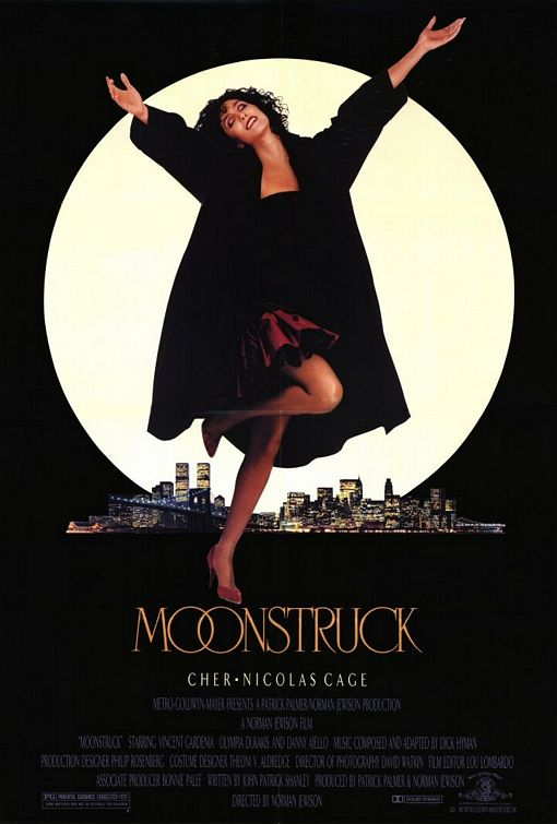 moonstruck rare one sheet movie poster promo cher snap out of it rare hot promo movie poster