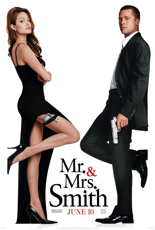 mr_and_mrs_smith_ver3 rare promo movie poster promo one sheet hot angelina jolie brad pitt hot sexy rare promo damn fine