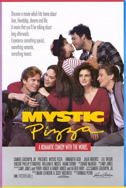 mystic_pizza rare one sheet movie poster promo julia robert lili taylor annabeth gish hot sexy rare classic romantic movie