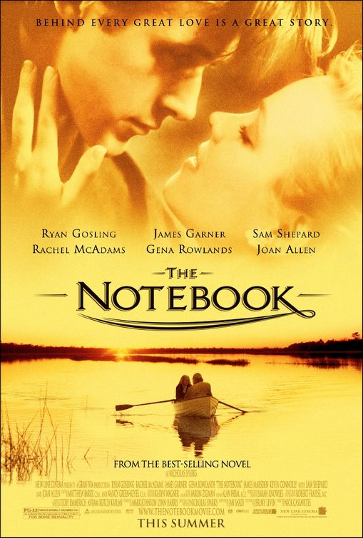 notebook rare promo one sheet movie poster promo rachel mcadams ryan gosling hot sexy duo