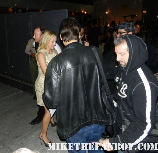 """teresa palmer signing autographs for fans at the The Art of Elysium """"Pieces of Heaven"""" Art Auction signed autograph I am number 4"""