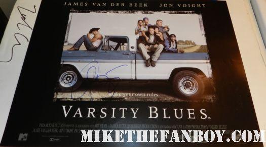 ali larter signed autograph varsity blues uk quad mini poster rare promo paul walker amy smart james van derbeek