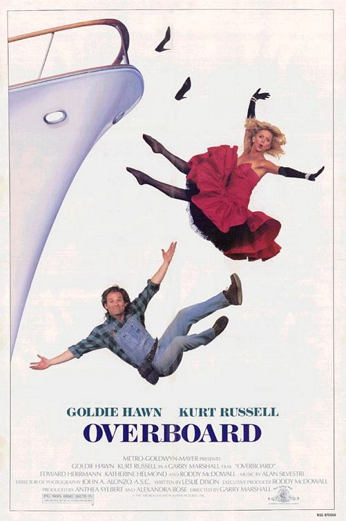overboard rare one sheet movie poster promo goldie hawn kurt russell valentine's day movie