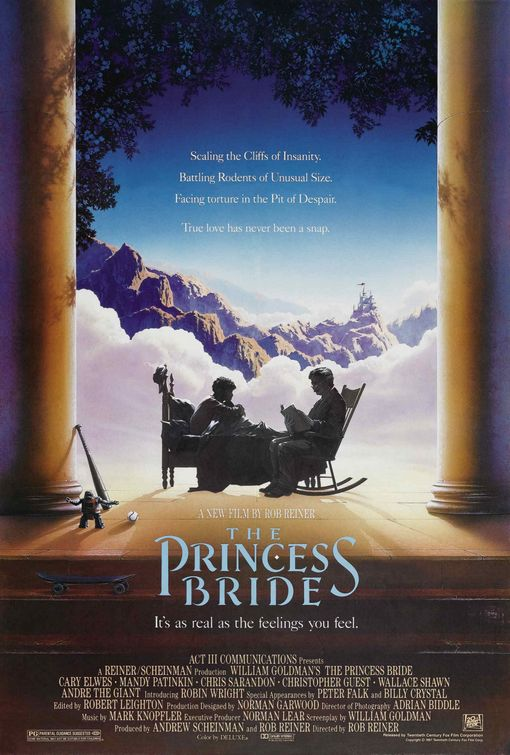 princess_bride rare promo one sheet movie poster promo andre the giant the princess bride rare hot promo