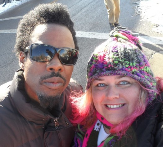 mike the fanboy's pretty in pinky with grown up's star chris rock at the 2012 Sundance Film Festival