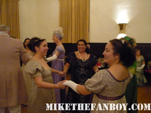 setting up lines Waltzing on stage he novel strumpet from mike the fanboy putting on a tam preparing to go to the jane austin ball in los angeles put on by theSociety for Manners and Merriment in the district of Los Angeles known as Pasadena