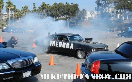 the medusa car doing a burn out at the  Independent Spirit Awards 2012 sand is evil