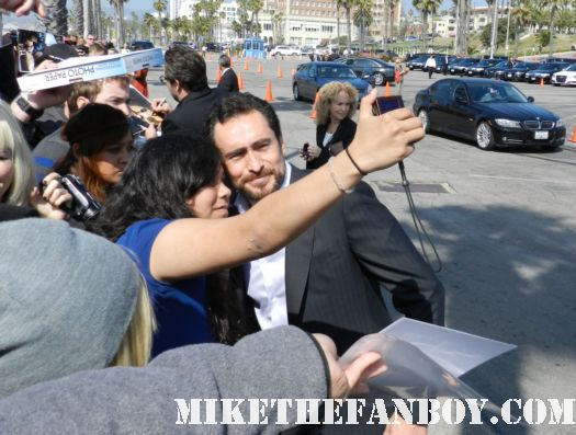 Demian Bichir from weeds hot sexy signs autographs for fans at the  Independent Spirit Awards 2012
