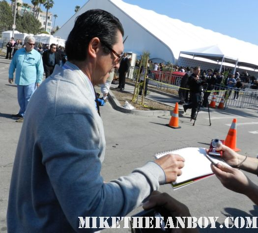 lou diamond phillips hot sexy signs autographs for fans at the  Independent Spirit Awards 2012