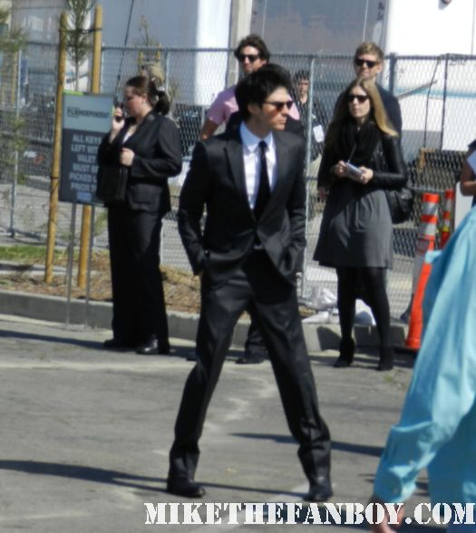 Ian Somerhalder hot sexy signs autographs for fans at the  Independent Spirit Awards 2012