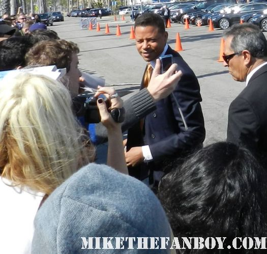 terrence howard  hot sexy signs autographs for fans at the  Independent Spirit Awards 2012