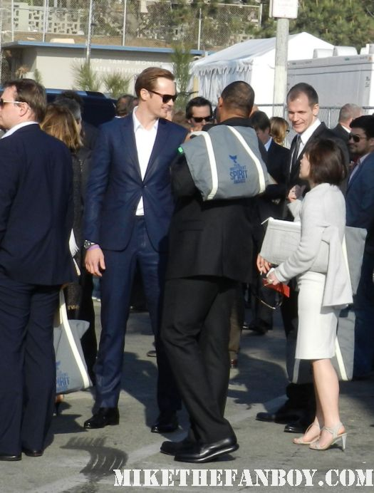 alexander skarsgard hot sexy signs autographs for fans at the  Independent Spirit Awards 2012