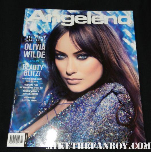 olivia wilde signed autograph angelino magazine 2009 hot sexy bikini rare signature
